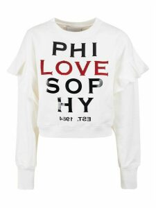 Philosophy di Lorenzo Serafini Layered-sleeve Ribbed Sweatshirt