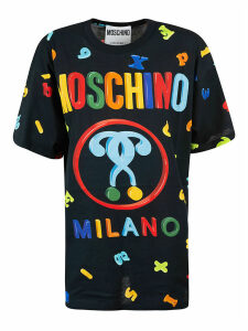 Moschino All-over Logo Print Oversized T-shirt