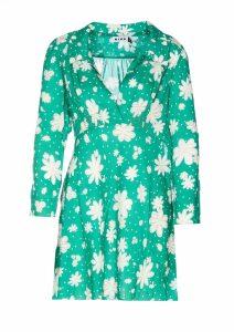 MSGM Floral Print Ruffled Top