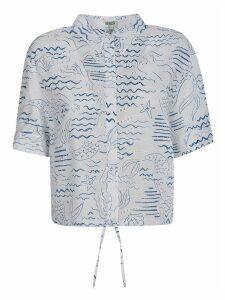 Kenzo Cropped Printed Shirt