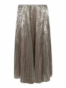 Fabiana Filippi Sequined Pleated Long Skirt