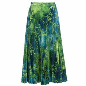 Versace Jungle Print Pleated Skirt