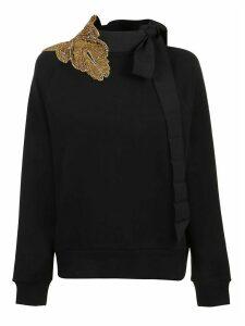 Dries Van Noten Hebiso Emb 9633 W.k. Sweater Bla