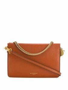 Givenchy logo-stamp shoulder bag - Brown