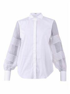 Brunello Cucinelli Cotton And Silk Shirt
