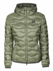 Blauer Quilted Zip Hooded Jacket