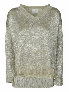 Dondup Fringed Hem V-neck Top