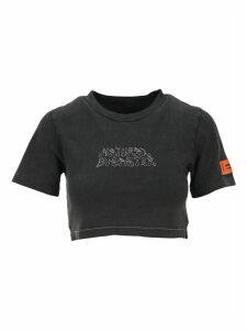 HERON PRESTON Heron Preston Natural Disaster Cropped T-shirt