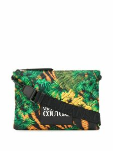 Versace Jeans Couture quilted jungle print clutch bag - Green
