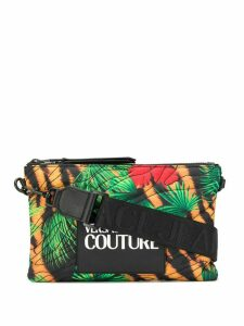 Versace Jeans Couture quilted jungle print mini bag - Green