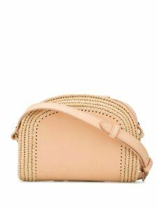 A.P.C. Demi braided-raffia cross-body bag - NEUTRALS