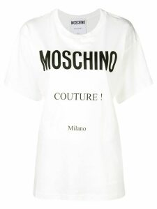 Moschino printed logo T-shirt - White