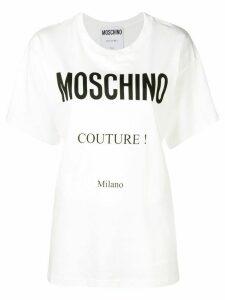 Moschino printed logo T-shirt - White