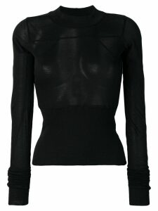 Rick Owens sheer jersey top - Black