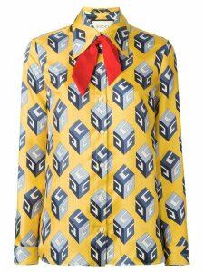 Gucci GG Wallpaper print shirt - Yellow