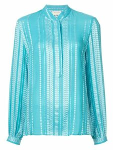 Zeus+Dione Hera patterned blouse - Blue