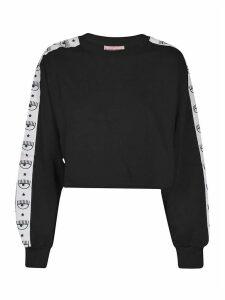Chiara Ferragni Tape Id Cropped Sweatshirt