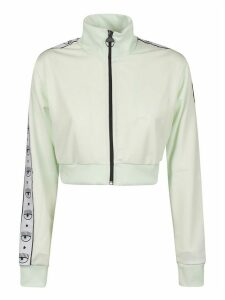 Chiara Ferragni Tape Id Cropped Track Jacket