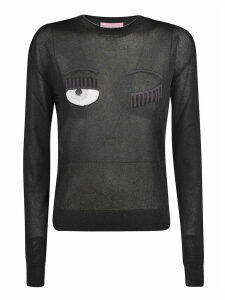 Chiara Ferragni Flirting Lurex Regular Crewneck Sweater
