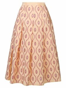Marni embroidered pattern skirt - Yellow