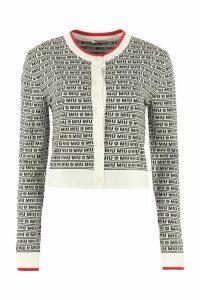 Miu Miu Jacquard Knit Cardigan