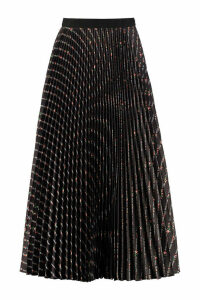 Miu Miu Printed Pleated Skirt