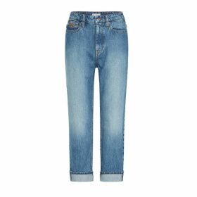 Straight Faded Jeans, Length 27.5