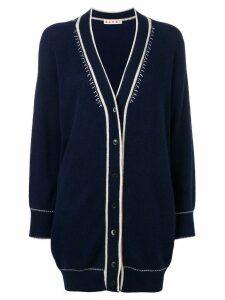 Marni cashmere oversized cardigan - Blue