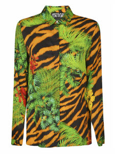 Versace Jeans Couture All-over Leaf Print Shirt