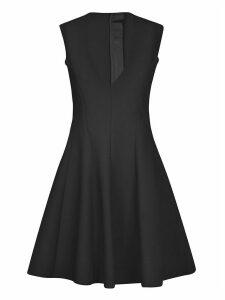 MSGM Rear Zip V-neck Flared Dress
