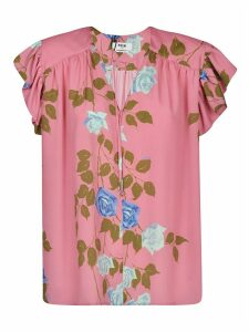 MSGM Rose Printed Blouse