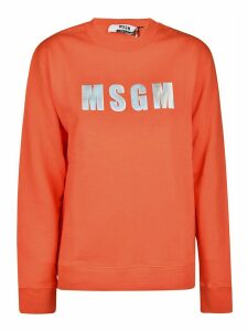 MSGM Ribbed Logo Sweatshirt