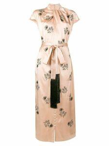 Erdem long embroidered dress - PINK