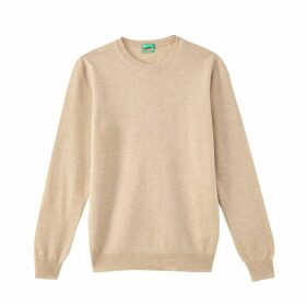 Wool Fine Knit Jumper with Round Neck