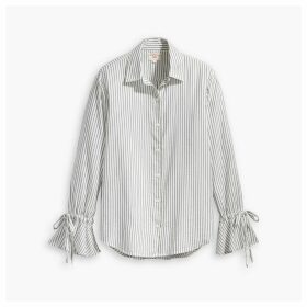 Striped Elsie Tie Sleeve Shirt
