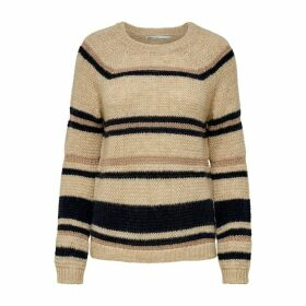 Metallic Striped Chunky Knit Jumper