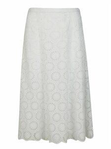 Michael Kors Cut-out Motif Long Skirt