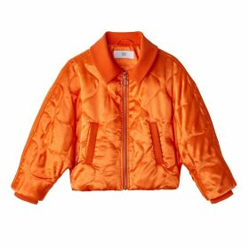 Padded Jacket with Batwing Sleeves
