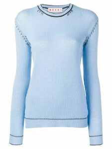 Marni contrast stitch jumper - Blue