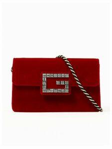 Gucci Red Velvet Bag G Strass