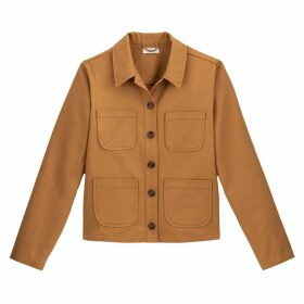 Cotton Worker Jacket with Pockets