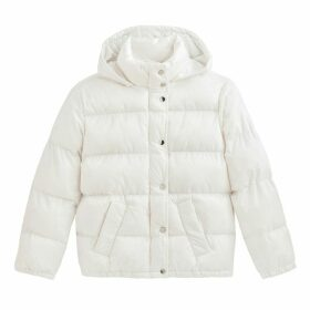 Padded Puffer Jacket with Hood and Pockets