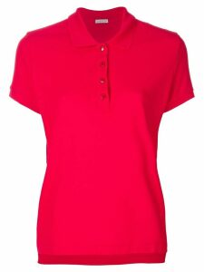 Moncler classic fitted polo top - Red