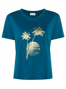 Saint Laurent sunset print T-shirt - Blue