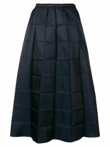 Marni folded check skirt - Blue