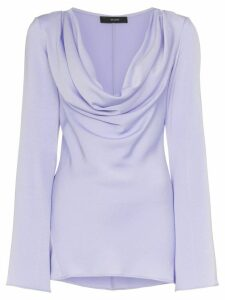 Ellery Arshile Cowl Neck and Fluted Sleeve Top - PINK