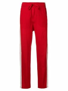 Isabel Marant Étoile Docia stripe-side sweatpants - Red