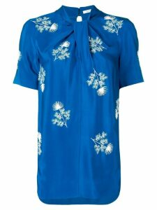 Erdem floral-embroidered top - Blue