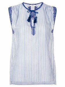 Isabel Marant Étoile embroidered detail blouse - Blue