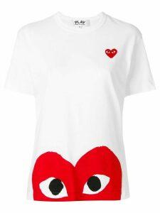 Comme Des Garçons Play logo T-shirt - White